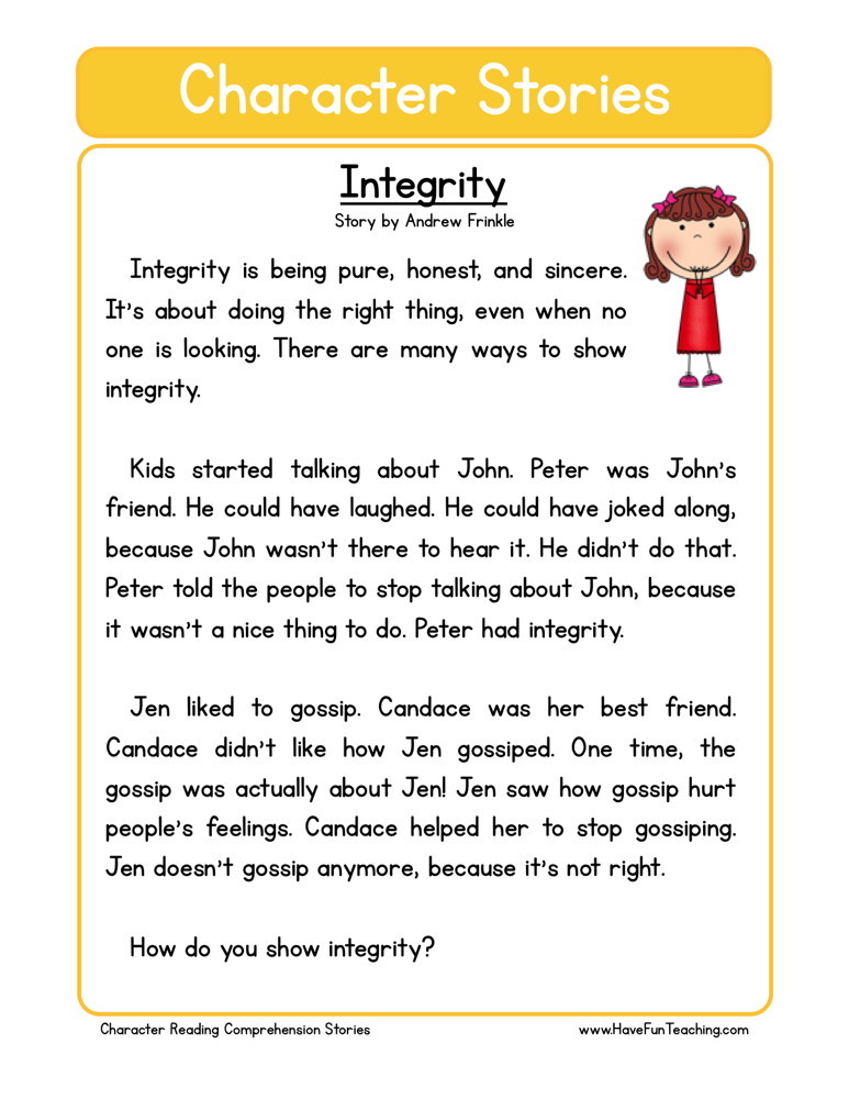 Reading Comprehension Worksheet - Forgiveness