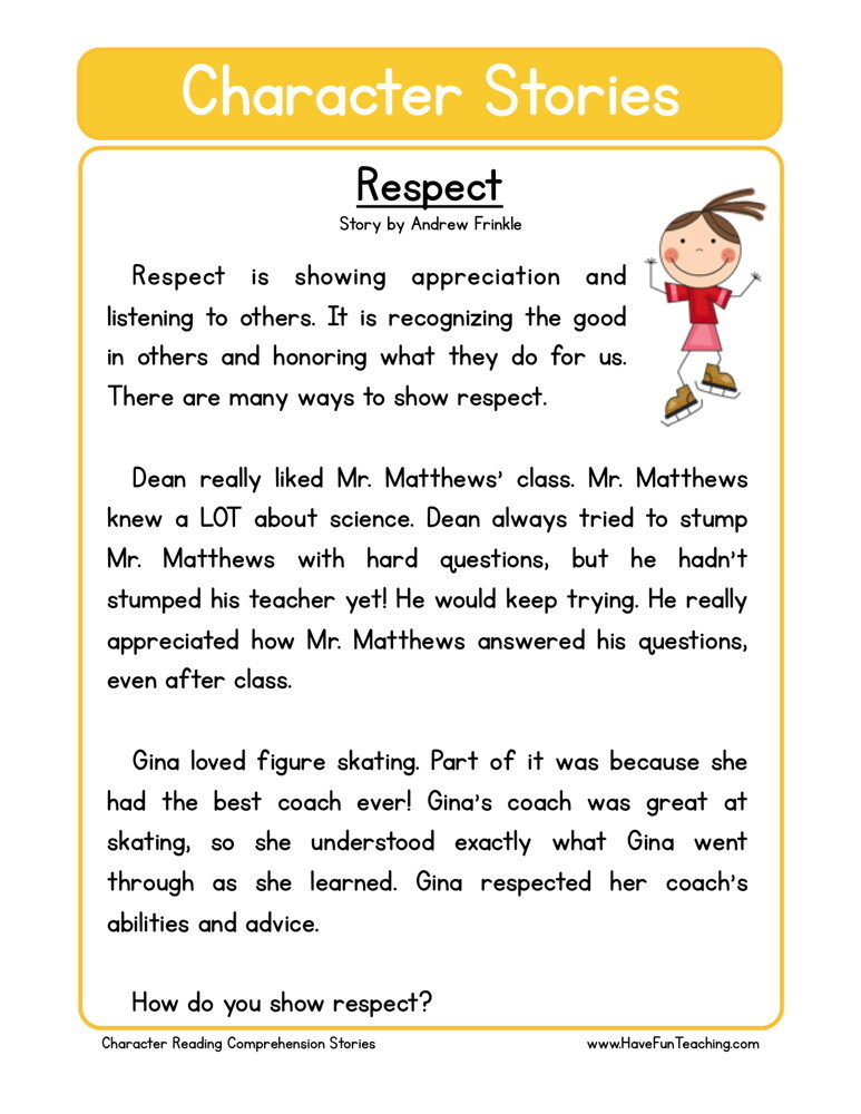 "Character+Education+Worksheets Be the first to review ""Respect ..."