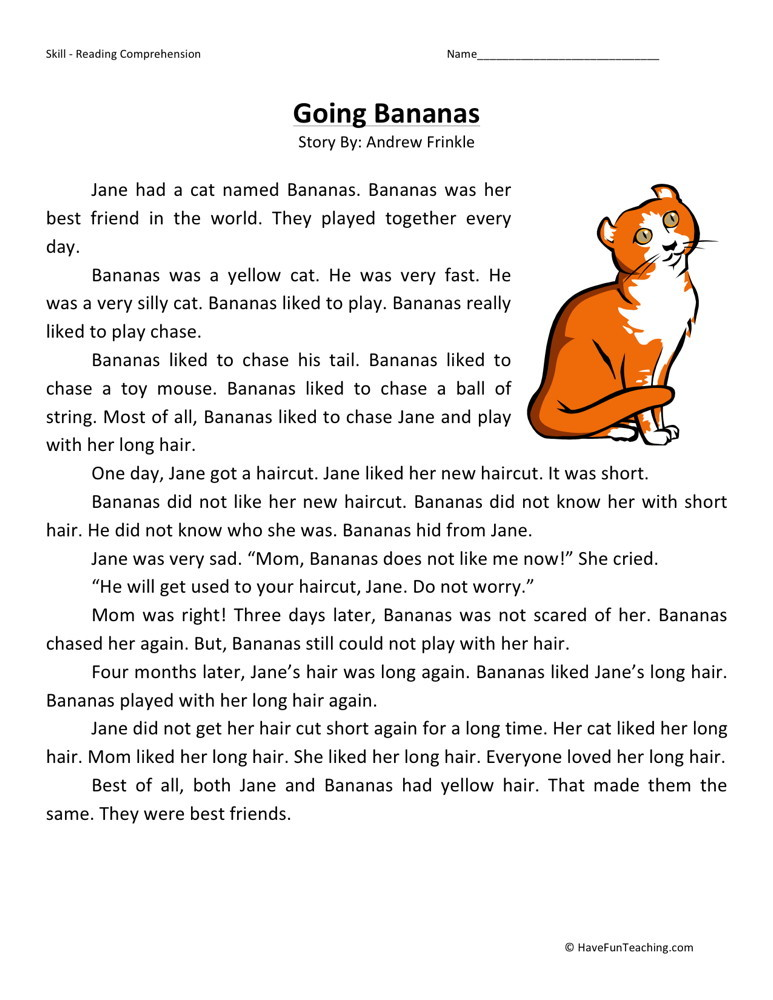 St Grade Sight Words Writing Worksheet together with Original additionally Free Going Bananas Second Grade Reading  prehension Worksheet as well Phlebotomy Worksheets moreover Force And Motion Acrostic Poems. on first grade reading comprehension worksheets