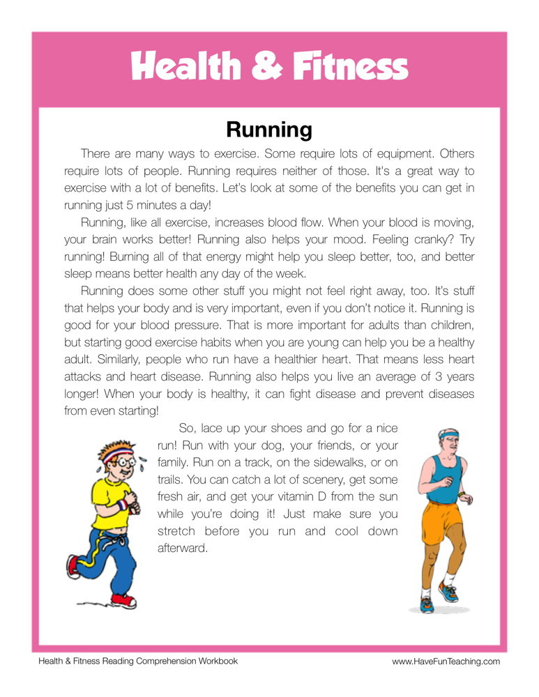 Reading Comprehension Worksheet - Running