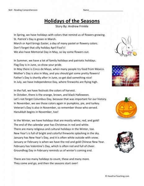 Number Names Worksheets reading worksheets free : Number Names Worksheets : holiday reading comprehension worksheets ...