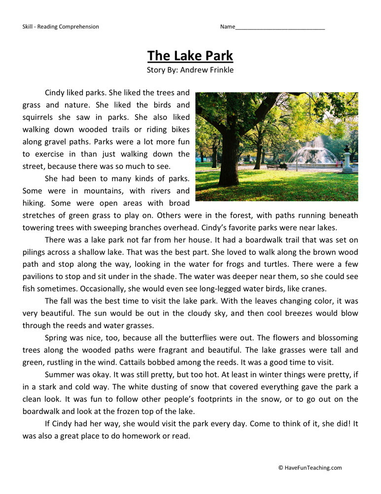 Fifth grade reading comprehension worksheets pdf