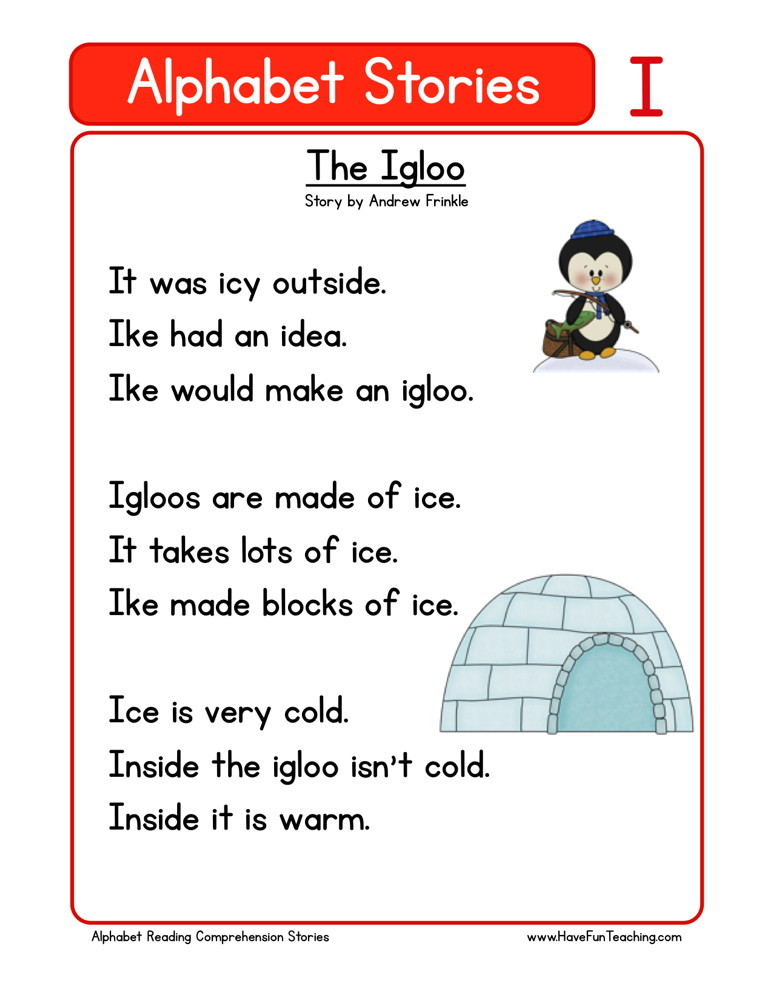 Reading Comprehension Worksheet - The Igloo