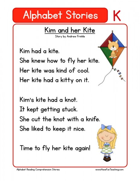 Reading Comprehension Worksheet - Kim and her Kite