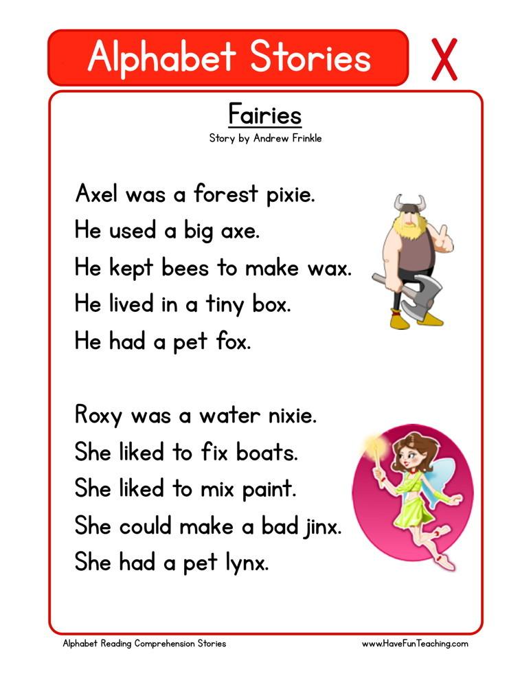 Reading Comprehension Worksheet - Fairies