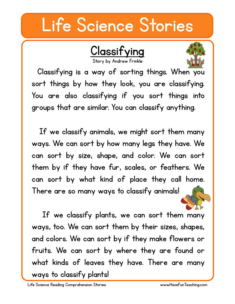 ... worksheets science reading comprehension worksheets second grade