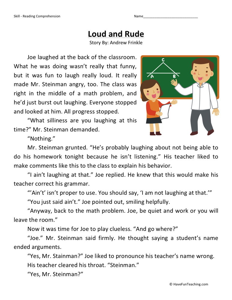 4th Grade Reading Printable Worksheets That are Decisive ...