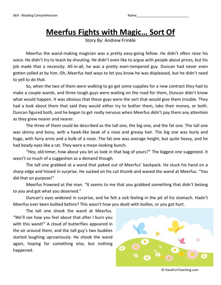 4th grade free worksheets reading