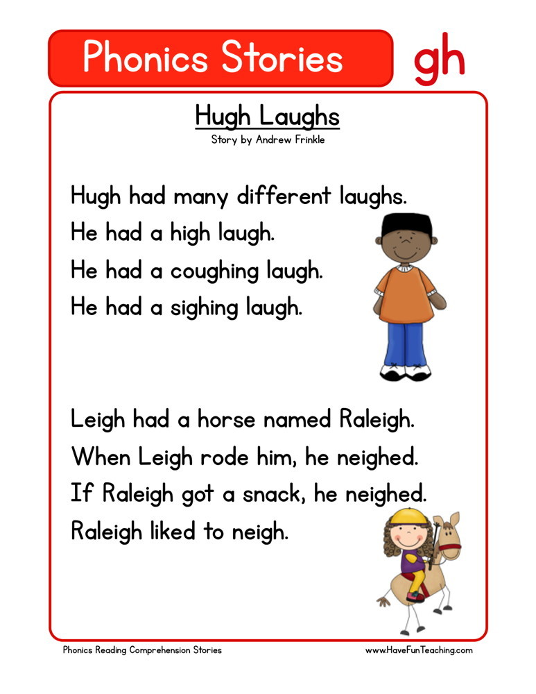 Reading Comprehension Worksheet - Hugh Laughs