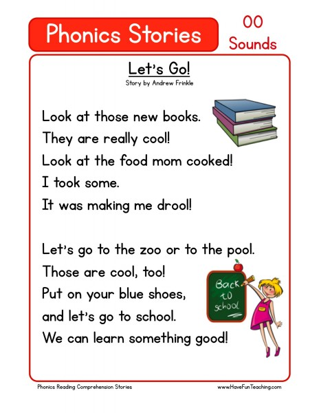 comprehension worksheets first grade reading comprehension worksheets ...