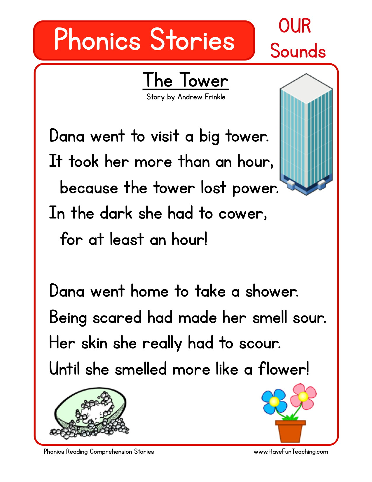 Reading Comprehension Worksheet - The Tower