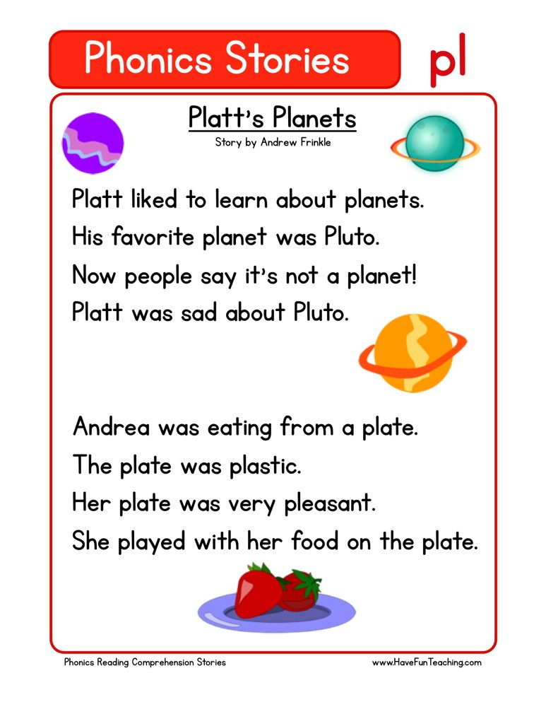 Reading Comprehension Worksheet - Plattu0026#39;s Planets