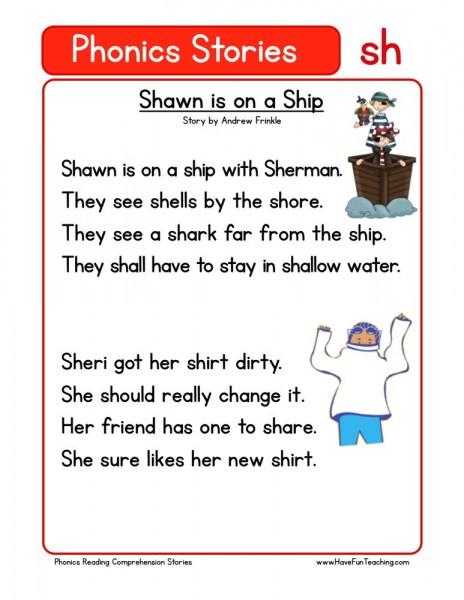 Reading Comprehension Worksheet - Shawn is on a Ship