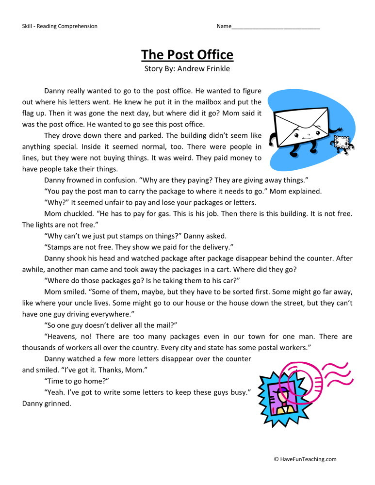 2nd grade reading comprehension worksheets have fun teaching