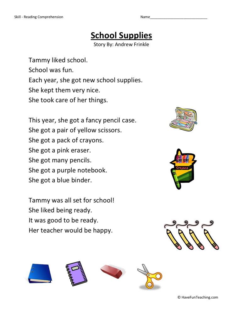 Kindergarten Level Worksheets