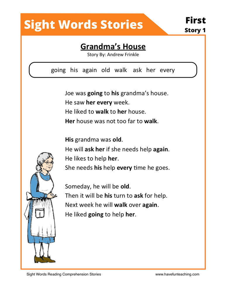 Reading Prehension Worksheet Grandma's House. Reading Prehension Worksheets Grandma's House. Worksheet. 11th Grade Reading Prehension Worksheets At Clickcart.co