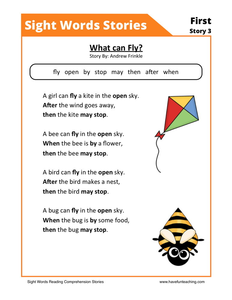 First Grade Reading Prehension Worksheets. Download What Can Fly. First Grade. Bee Worksheets For First Grade At Mspartners.co