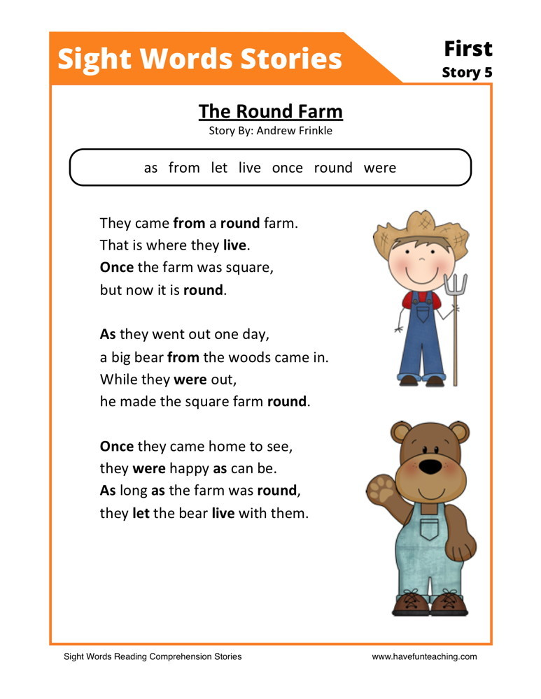 Reading Prehension Worksheet The Round Farm