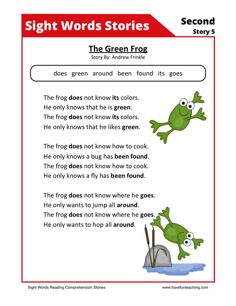 Nonfiction reading comprehension worksheets 2nd grade