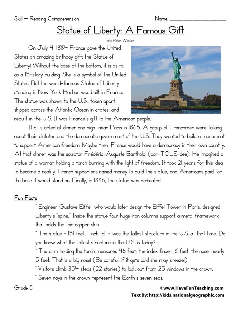 Statue of Liberty: A Famous Gift