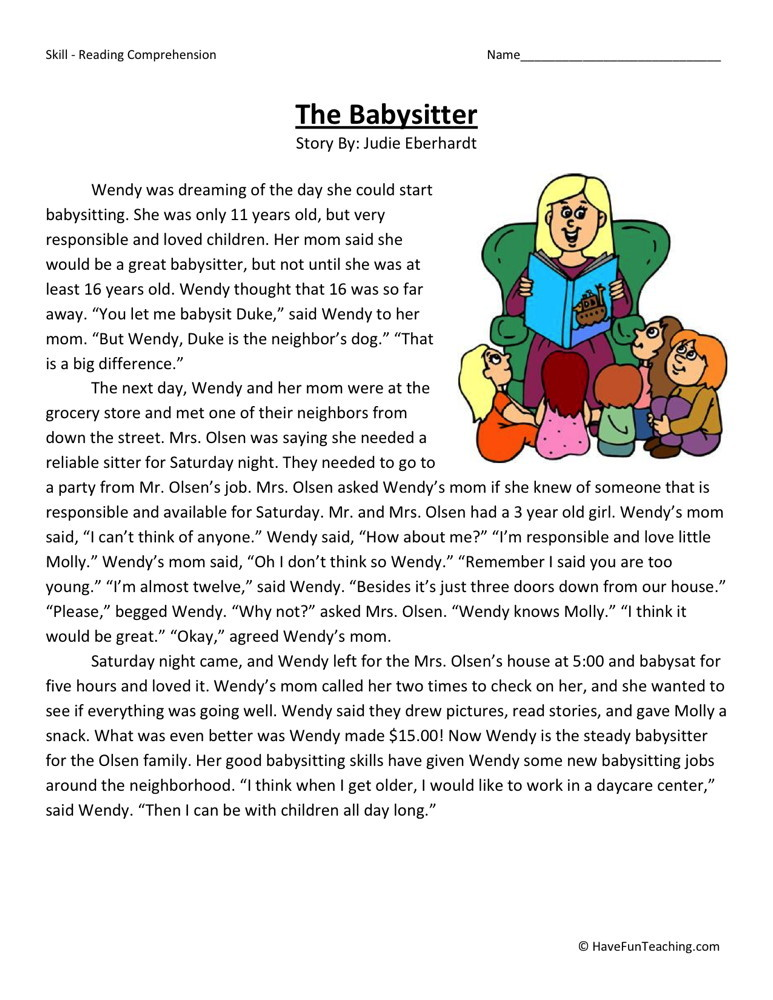 4th Grade Reading Comprehension Worksheets : Reading comprehension exercises with answers pdf