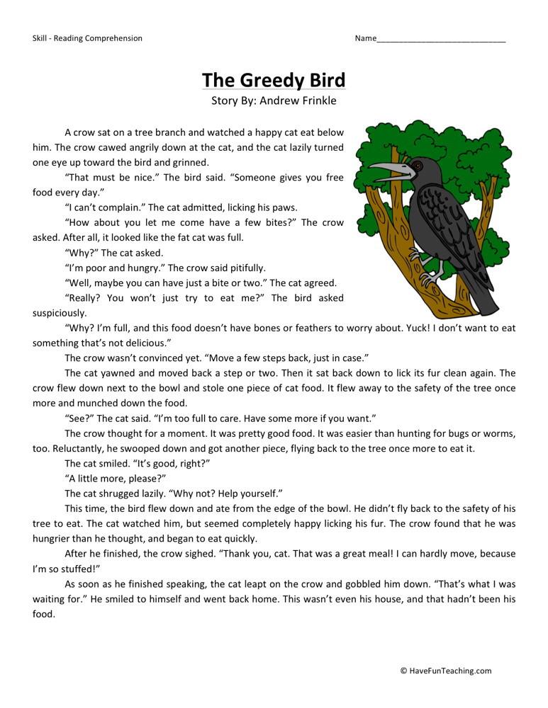 free reading comprehension worksheets for 2nd grade   Cleverwraps
