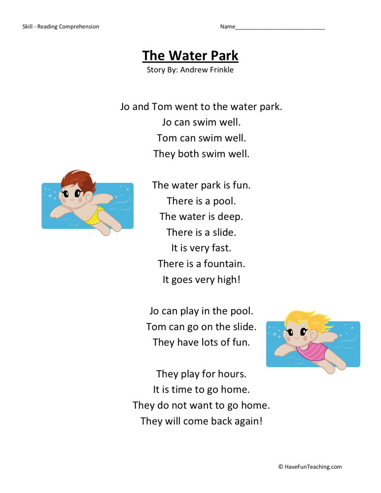 1St Grade Reading Comprehension Free Printable Worksheets – 1st Grade Reading Comprehension Worksheets Free